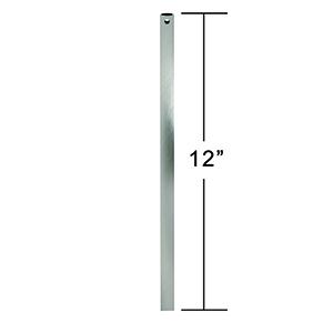 Brushed Steel 1-Feet Downrod