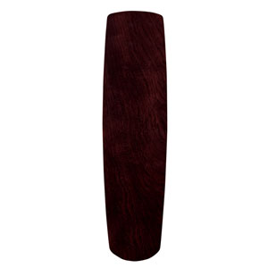 Dark Mahogany 25-Inch Solid Wood Ceiling Fan Blade, Set of Five