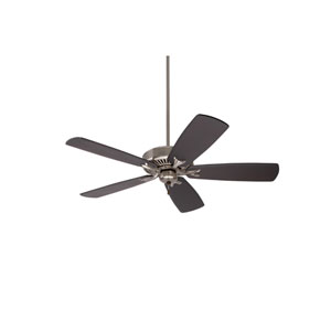Premium Select Brushed Steel 54-Inch Ceiling Fan with Chocolate Solid Wood Blades