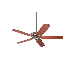 Premium Select Brushed Steel 60-Inch Ceiling Fan with Walnut Solid Wood Blades
