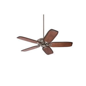 Premium Select Brushed Steel 54-Inch Ceiling Fan with Hand Carved Walnut Blades