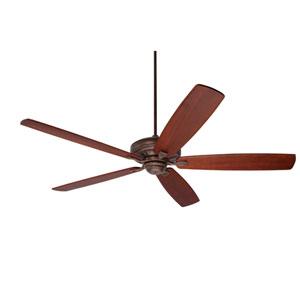 Carrera Grande Eco Gilded Bronze Energy Star Indoor/Outdoor EcoMotor 72-Inch Ceiling Fan with Walnut Solid Wood Blades