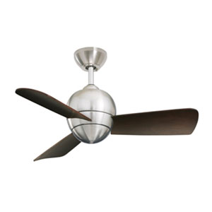 Brushed Steel Tilo Ceiling Fan