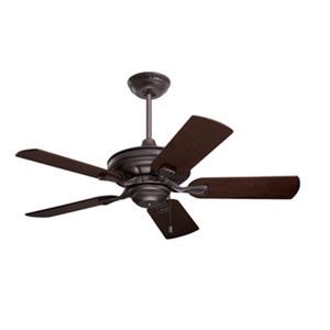 Carrera Bella Oil Rubbed Bronze 42-Inch Ceiling Fan with Dark Mahogany/Walnut Blades