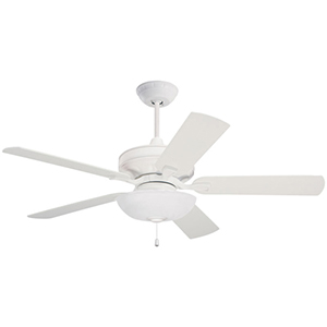 Bella Satin White 42-Inch Ceiling Fan