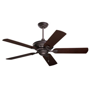 Carrera Bella Energy Star Oil Rubbed Bronze 52-Inch Ceiling Fan with Dark Mahogany/Walnut Blades