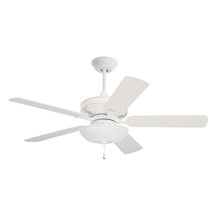 Bella Satin White 52-Inch Ceiling Fan