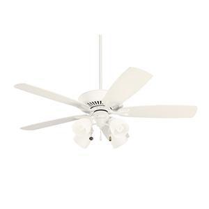 Premium Select Satin White Three Light Ceiling Fan