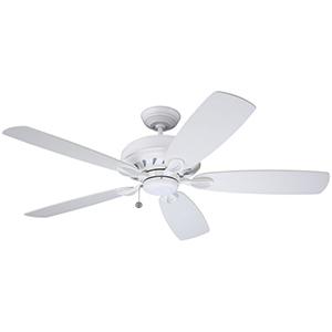 Penbrooke Satin White Ceiling Fan