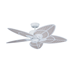 Batalie Breeze Satin White Indoor and Outdoor Ceiling Fan