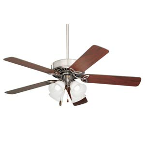 Pro Series II Brushed Steel 50-Inch Ceiling Fan