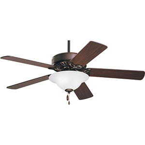 Pro Series Oil Rubbed Bronze Three Light Ceiling Fan