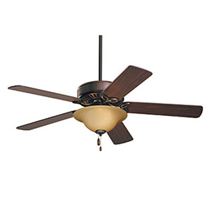 Pro Series Energy Star Oil Rubbed Bronze 50-Inch Ceiling Fan with Dark Cherry/Medium Oak Blades