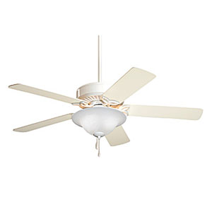 Pro Series Energy Star Appliance White 50-Inch Ceiling Fan with Applaince White/Bleached Oak Blades