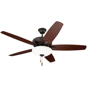 Pro Series Oil Rubbed Bronze Ashland Three Light Ceiling Fan