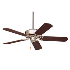 Designer Brushed Steel 52-Inch Ceiling Fan