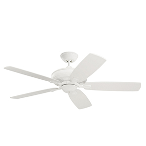Carrera Satin White Eco Energy Star Ceiling Fan