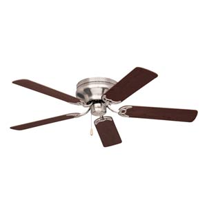 Brushed Steel 52-Inch Contemporary Snugger Ceiling Fan