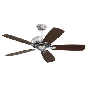 Prima 52-Inch Brushed Steel Energy Star Ceiling Fan
