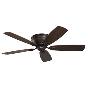 Prima Oil Rubbed Bronze 52-Inch Snugger Ceiling Fan with Dark Cherry/Walnut Reversible Blades