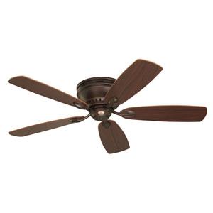 Prima Venetian Bronze 52-Inch Snugger Ceiling Fan with Dark Cherry/Walnut Reversible Blades
