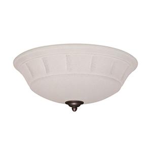 Grande Summer White Three Light Ceiling Fan Kit