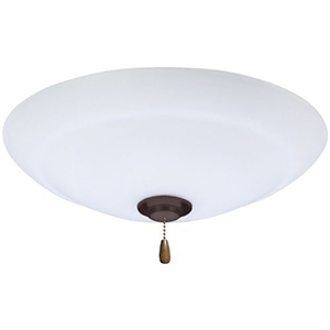 Golden Espresso Riley LED Ceiling Fan Light Fixture