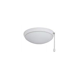 Satin White Moon Ceiling Fan Light Fixture