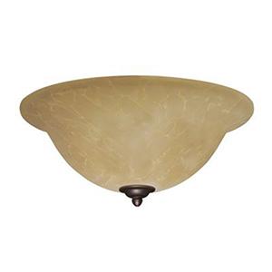 Antique Brass Amber Parchment LED Light Fixture
