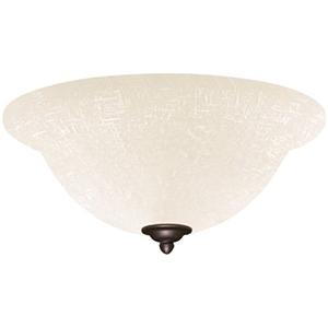 Antique Brass White Linen LED Light Fixture