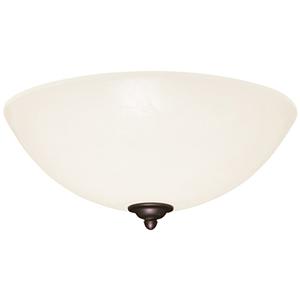 Vintage Steel Fluorescent Three Light Ceiling Fan Fixture with Opal Matte Glass