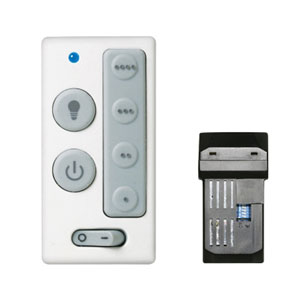 White 4-Speed Wall Control With Receiver