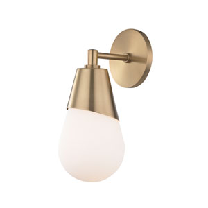 Cora Aged Brass 5-Inch One-Light Wall Sconce