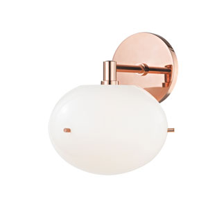 Winnie Polished Copper 8-Inch LED Wall Sconce