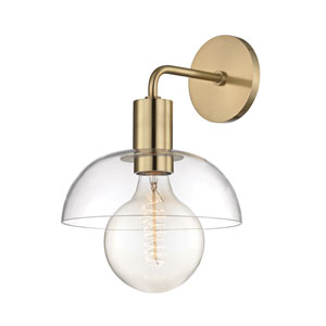 Kyla Aged Brass 9-Inch One-Light Wall Sconce