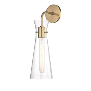 Anya Aged Brass 6-Inch One-Light Wall Sconce