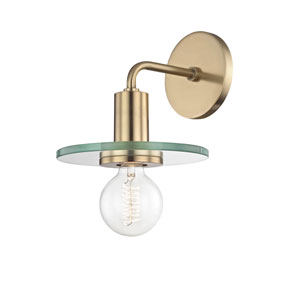 Peyton Aged Brass 8-Inch One-Light Wall Sconce