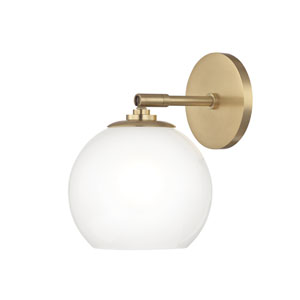 Tilly Aged Brass 7-Inch LED Wall Sconce