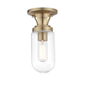 Clara Aged Brass 5-Inch One-Light Semi-Flush Mount