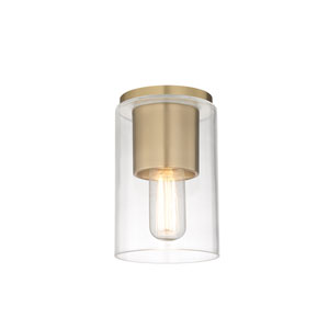 Lula Aged Brass 5-Inch One-Light Flush Mount