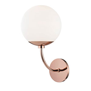 Carrie Polished Copper 8-Inch One-Light Wall Sconce
