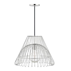 Katie Polished Nickel 18-Inch One-Light Pendant