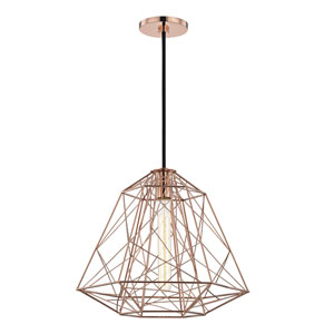 Ani Polished Copper 16-Inch One-Light Pendant