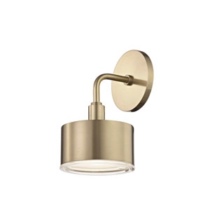 Nora Aged Brass 5-Inch LED Wall Sconce