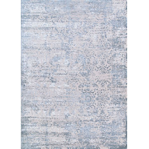 Europa Himalia Floral Luna Grey Rectangular: 6 Ft. 7 In. x 9 Ft. 6 In. Rug