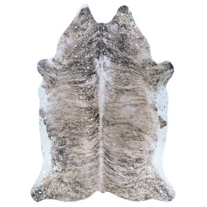 Prairie Hides Gjovik Pepper Animal Skin: 3 Ft. 10 In. x 5 Ft. Rug