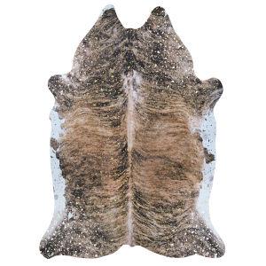 Prairie Hides Gjovik Brown-Black Animal Skin: 5 Ft. 6 In. x 6 Ft. Rug