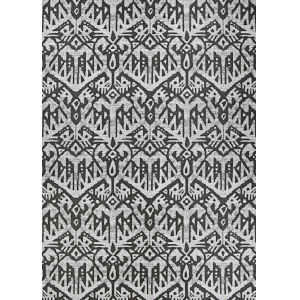 Dolce Maasai Noir Rectangular: 2 Ft. 3 In. x 7 Ft. 10 In. Indoor/Outdoor Runner