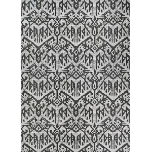 Dolce Maasai Noir Rectangular: 4 Ft. x 5 Ft. 10 In. Indoor/Outdoor Rug