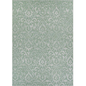 Marseille St. Marcel Vert Rectangular: 2 Ft. 3 In. x 11 Ft. 9 In. Indoor/Outdoor Runner